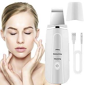 Lalafancy Dispositivo Ultrasónico de Limpieza de la Piel Facial, Skin Scrubber Exfoliador Limpiador de poros USB 3 Modos…
