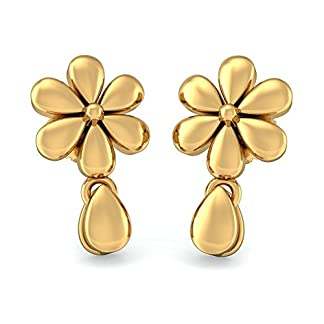 BlueStone 22k (916) Yellow Gold Pratiti Drop Earrings