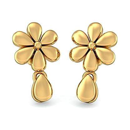 BlueStone 22k (916) Yellow Gold Pratiti Drop Earrings