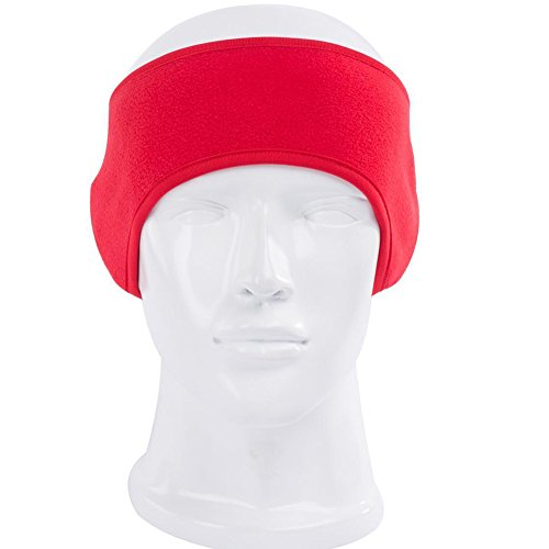 lilyy Herren Damen Outdoor Winter Stirnband Polar Fleece Fahrrad Ski-Ohrenschützer, Herren, rot, Size: 25CM*12CM*7.5CM Polar-fleece Ear Warmer