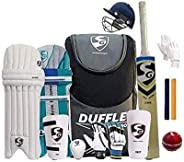 SG Full Cricket Kit with Duffle Bag:- Full Size for Man (Adult)