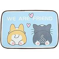 HXxxxxx Alfombrilla para Perro Nido para Mascotas Almohadilla para Hielo Alfombrilla para Gato Nido de Hielo enfriamiento Verano Verano Almohadilla fría Perrera(Size:L: 90 * 60,Color:UNA)