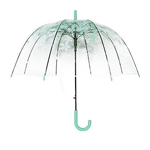 Kreative bunte Sonnenschirm Blätter Regenschirm Transparente Pilz Arch Baum Frische PVC Bubble Regen Getriebe (Moosgrün