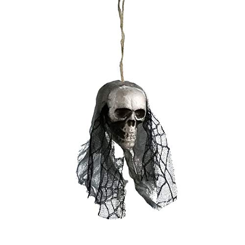 Aprigy - DIY Künstliche Schaum Schädel-Braut-Kleidung Halloween-Dekor Knochen Kopf Hängen Hauptdekorationen Festival Partyangebot [8 ]
