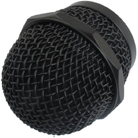 sourcingmap® Testa A Sfera Grille Mic Microfono Rete Turno Di Sostituzione Della Cartuccia Nera
