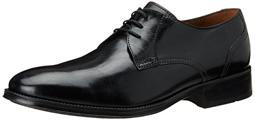 Clarks Kolby Walk, Derbies à Lacets Homme Noir (Black Leather)
