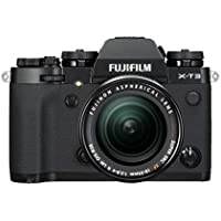 Fujifilm X-T3 - Cámara de objetivo intercambiable sin espejo, con sensor APS-C de 26,1 Mpx, video 4K/60p DCI, pantalla táctil, WIFI, Bluetooth, negro, Kit con objetivo XF18-55mm F2.8-4 R LM OIS