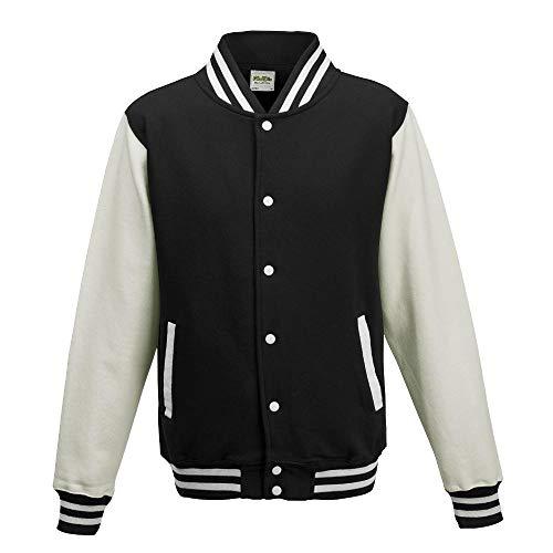 Just Hoods - Unisex College Jacke 'Varsity Jacket' BITTE DIE JH043 BESTELLEN! Gr. - XL - Jet (College Kostüm Party Bilder)