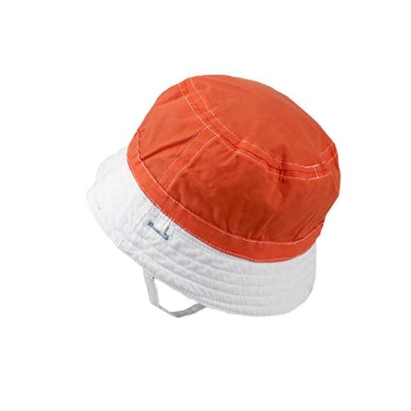 Xiaoyu 2 en 1 sombreros unisex de doble cara del sol del bebé, bebé y muchachos de los muchachos del niño 5