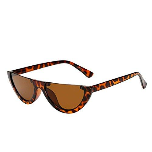 URSING Cateye Damen Sonnebrille Weiblich Mode Ultra Thin Ultra Light Mode Frame Weiblich Integrierte UV-Brille Vintage Retro Super Coole Brillenmode Sonnenbrillen Women Sunglasses (A)