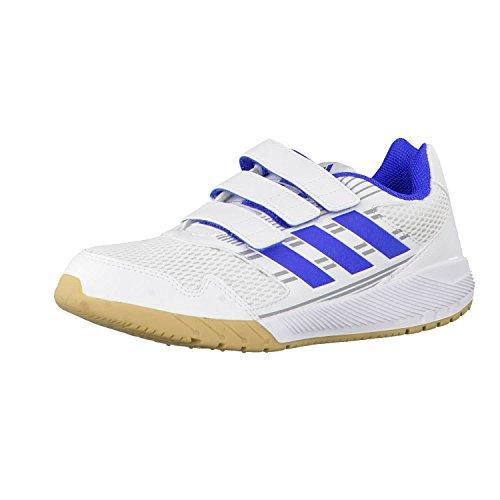 adidas Unisex-Kinder Altarun Cloudfoam Laufschuhe, Weiß (Footwear White/Blue/Mid Grey), 36 EU