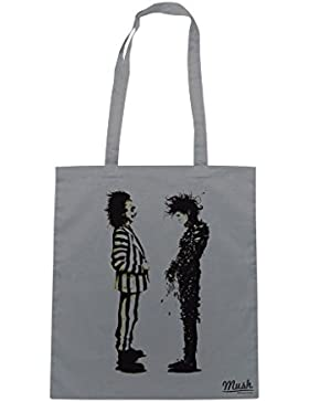 Borsa Edward mani di forbice - Beetlejuice Tim Burton - Grigia - Film by Mush Dress Your Style