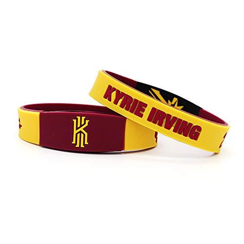 auvwxyz. Armbänder NBA Basketball Owen Armband Gedenkversion doppelseitig mit Leuchtarmband Knights Drew Uncle Silikonarmband, rot und gelb