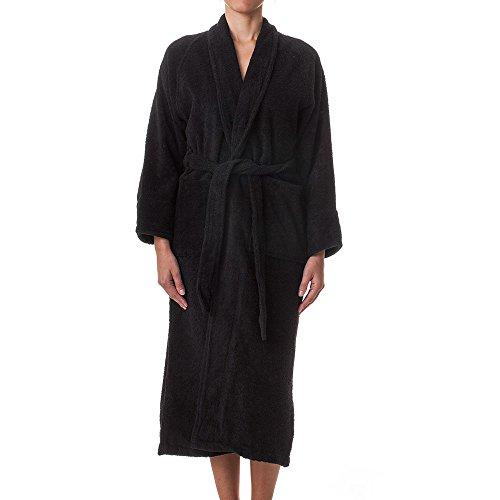 eLuxurySupply Unisex Terry Cloth Robe - 100% Long Staple Cotton Hotel/Spa by, X-Large, Black