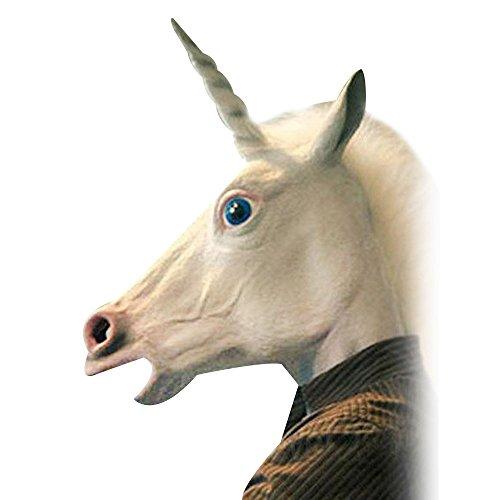 Cido Gruselig Einhorn Latex Cosplay Tier Kopfmasken Halloween-Party verkleiden sich (Einfach Machen Gute Kostüme Halloween Zu)