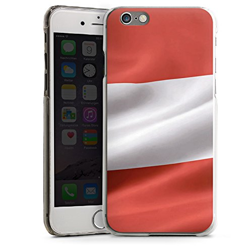 Apple iPhone 5s Housse étui coque protection Autriche Drapeau Autriche CasDur transparent