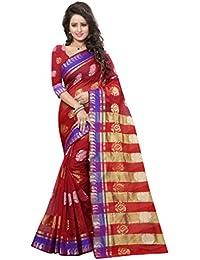 Stutti Fashion Art Silk Saree (Sfs1719_Red_Red)