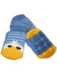 Weri Spezials Voll-ABS Socke Enten Motiv in Mittelblau