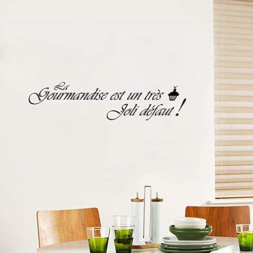 Abnehmbare Französisch Küche Vinyl Wandaufkleber Kunstwand Küche Fliesen Aufkleber Tapete Französisch Wohnkultur Haus Dekoration 115X30CM