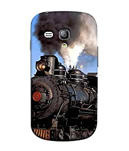 PrintVisa Designer Back Case Cover for Samsung Galaxy S3 Mini (rail engine front exhaust look)