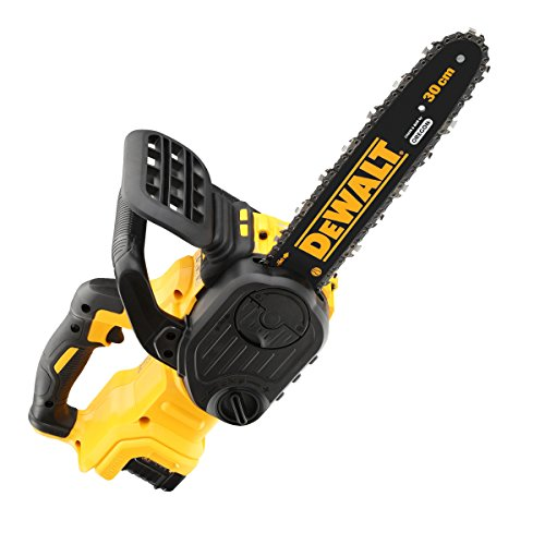 DEWALT DCM565P1 Cordless XR Brushless Chainsaw, 18 V, Yellow/Black, 30 cm