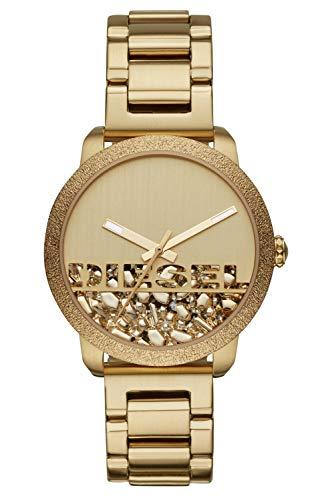 Diesel DZ5587 Flare Rocks Uhr Damenuhr Edelstahl vergoldet 5 bar Analog Gold