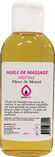 Olio da massaggio 100% vegetale, profumato al fiore di Monoï, 100ml, prezzo di lancio