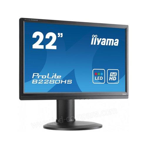 Iiyama ProLite B2280HS-B1DP 22-Inch LED Monitor - Black