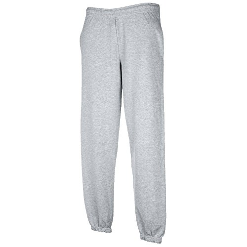 JOGGINGHOSE ELAST BUND FRUIT OF THE LOOM S M L XL XXL XXL,Heather Grey
