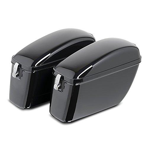 Preisvergleich Produktbild Hartschalenkoffer + Träger Silver für Harley Davidson Sportster Forty-Eight 48 (XL 1200 X) 10-16