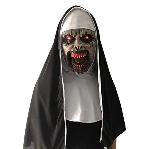 I-JUN Resplandor De Halloween Mascarilla Hermana Tocado De Látex Accesorios Adulto Disfraz Fiesta Carnaval