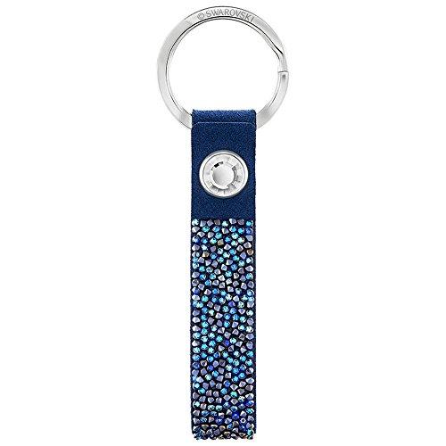 Swarovski-Ciondolo unisex Glam Rock Portachiavi rodiato e plastica blu di cristallo 5174942