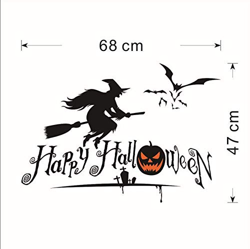 loween Series Witch Window Living Room Bedroom Decoration Wall Stickers Party 68 * 47 ()