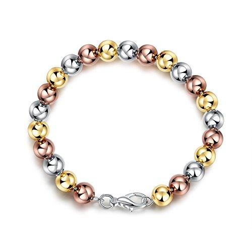 Fushop variopinti monili della catena del braccialetto del branelli della pietra preziosa (placcato in argento)