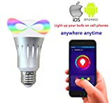 Smart Home WLAN-LED-Lampe, komp. mit Alexa, UPSTONE RGBW, 7 Watt E27 EEK A+ 16 Millionen Farben dimmbar (Typ 1)
