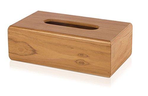 möve Teak Kosmetiktuchbox 7 x 7 x 20 cm aus Teakholz, wood
