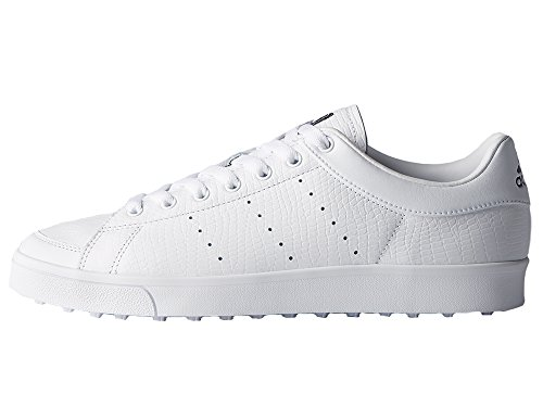 adidas Herren Adicross Classic Golfschuhe, Weiß (White F33779), 44 2/3 EU (Golf Schuh Klassische Spikeless)