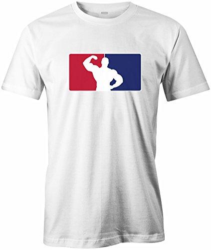 Bodybuilding Logo - Sport - Herren T-Shirt by Jayess Weiß