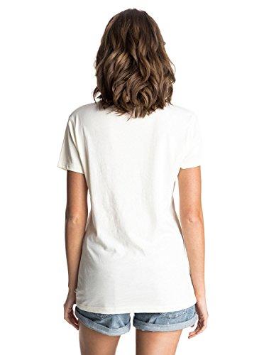 Roxy Damen Basic Crew Batik T-Shirt Vanilla Ice