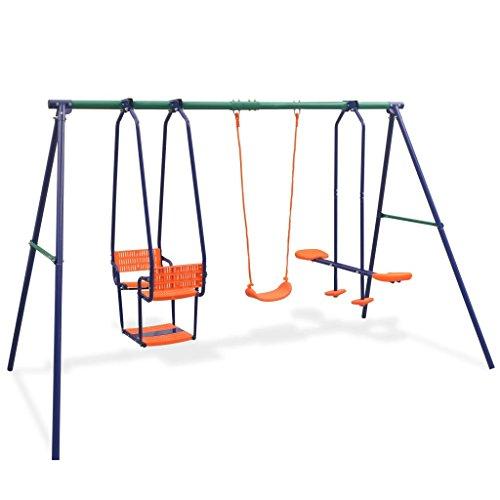Tidyard Outdoor Spielplatz für Garten Schaukeln | Gartenschaukel | Kinderschaukel | Schaukelset mit 5 Sitzen Belastbar bis 170 kg