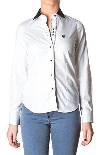 di-prego-camisa-de-mujer-manga-larga-de-color-blanco-con-cuello-y-puos-negros-puos-reversible-a-raya