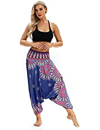 59e72cab5ec50e ABCone Pantaloni Donne Pantaloni Vendita Calda, Larghi di Yoga Allentati  delle Donne Baggy Boho Tuta