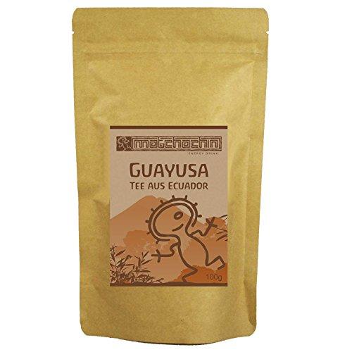 Guayusa Energytee von Matchachin - Das Original (100g) [Ilex guayusa] Leistung, Ausdauer, Konzentration + mögliche Nebenwirkung: luzides träumen - der Nachtwächter Tee der Quichua Indianer -