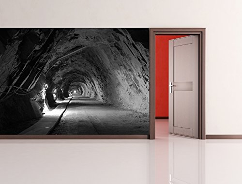 Vlies Fototapete - alte Uranmine in Polen - schwarz weiss - 100x65 cm - inklusive Kleister - Tapetenkleister – Bild auf Tapete – Bildtapete – Foto auf Tapeten – Wand – Wandtapete – Vliestapete – Wanddeko - Design