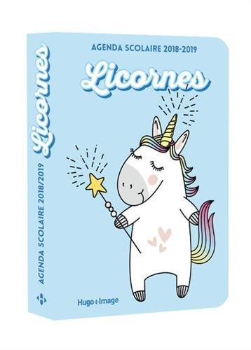 Agenda scolaire 2018-2019 Licornes