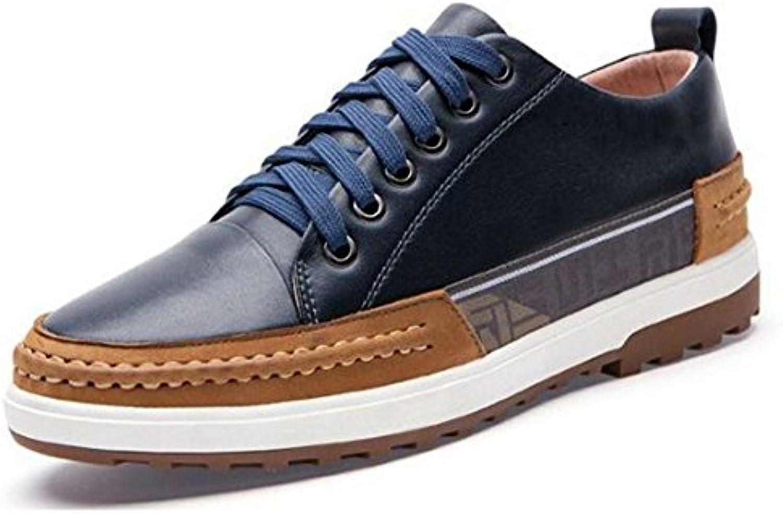 Zapatos Casuales para Hombres Zapatos de Cuero Zapatos Transpirables con Fondo Suave