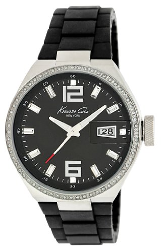 Kenneth Cole KC4812 - Reloj analógico de Cuarzo para Mujer con Correa de Acero Inoxidable, Color Negro...