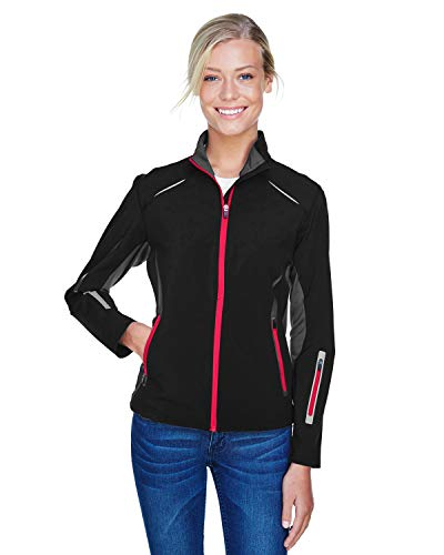 Ladies' Pursuit Three-Layer Light Bonded Hybrid Soft Shell Jacket with Laser Hybrid Soft Shell Jacket