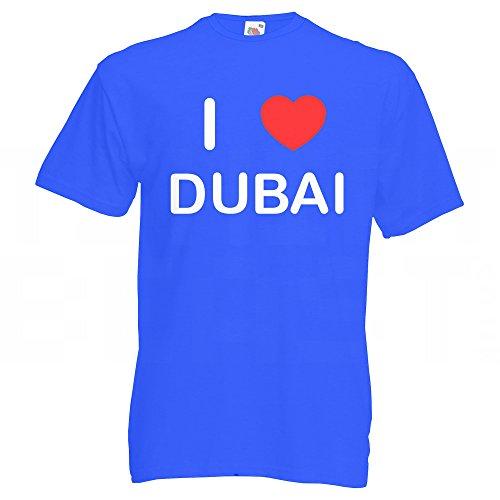 I Love Dubai - T Shirt Blau