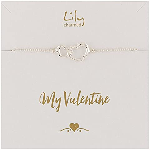 Lily Charmed - Silver Linked Hearts Bracelet with